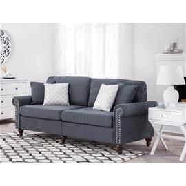 Beliani 3-istuttava sohva kankainen tummanharmaa OTRA