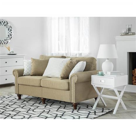 Beliani 2-istuttava sohva kankainen vaaleanruskea OTRA