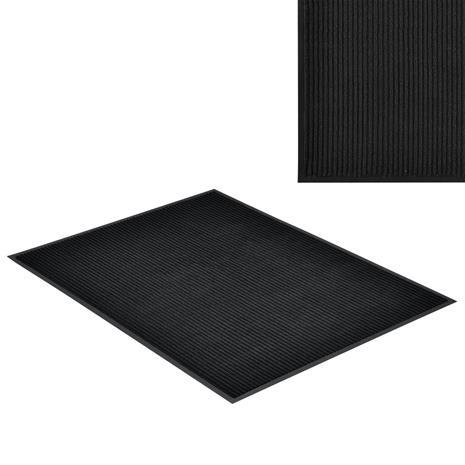 [en.casa]® Kynnysmato / ovimatto - musta - 120 x 90 cm