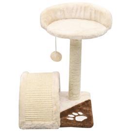 vidaXL Kissan kiipeilypuu sisal-pylväällä 40 cm beige ja ruskea