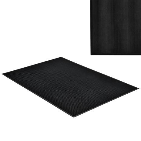 [en.casa]® Kynnysmato / ovimatto - musta - 180 x 120 cm