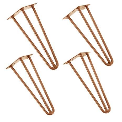 [en.casa]® Tyylikäs pinnijalka setti (4 kpl.) - 35 cm - vaski väri