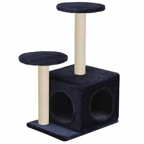 vidaXL Kissan kiipeilypuu sisal-pylväillä 60 cm tummansininen