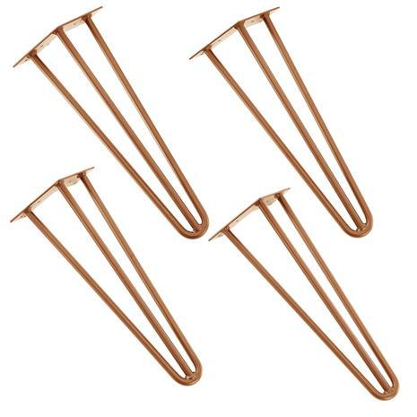 [en.casa]® Tyylikäs pinnijalka setti (4 kpl.) - 40 cm - vaski väri