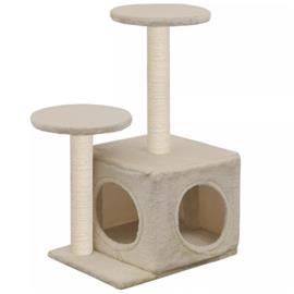 vidaXL Kissan kiipeilypuu sisal-pylväillä 60 cm beige