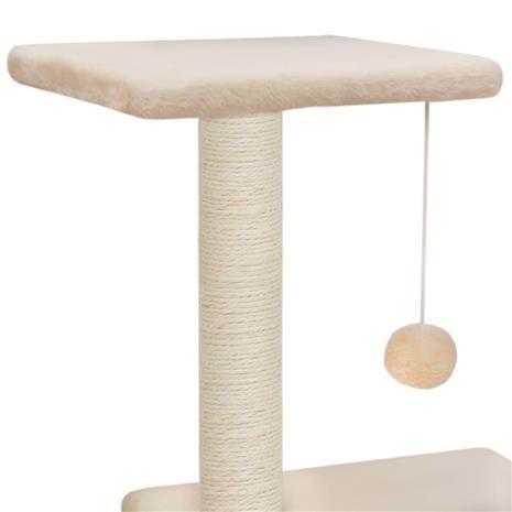 vidaXL Kissan raapimispuu sisal-pylväillä 65 cm beige