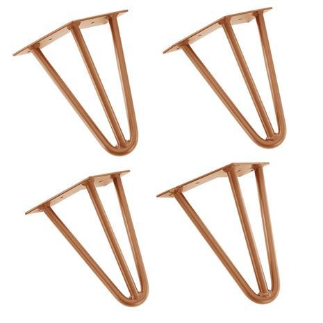[en.casa]® Tyylikäs pinnijalka setti (4 kpl.) - 20 cm - vaski väri
