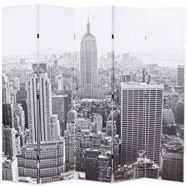 vidaXL Taitettava tilanjakaja 200x180 cm New Yorkin päivämaisema