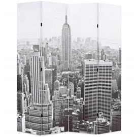 vidaXL Taitettava tilanjakaja 160x180 cm New Yorkin päivämaisema