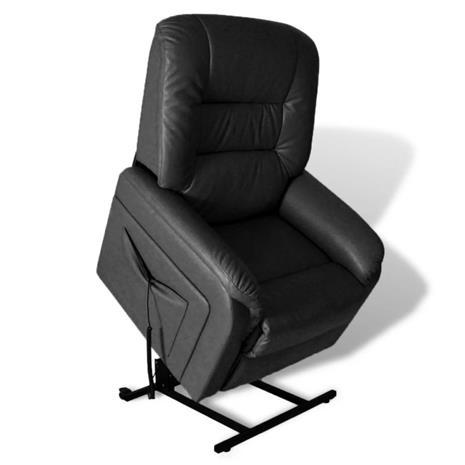 vidaXL Sähköisesti säädettävä TV-nojatuoli keinonahka musta