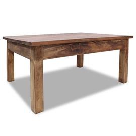 vidaXL Kahvipöytä kiinteä kierrätetty puu 98x73x45 cm, Muut huonekalut