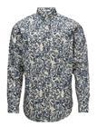 GANT Rugger R1. Crisp Poplin Floral Shirt Lfbd Sininen