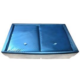 vidaXL Vesisängyn patjasetti suojuksella ja jakajalla 200x220 cm F3, Sängyt ja patjat