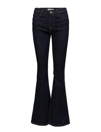 Mango Decorative Seam Flared Jeans Sininen