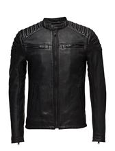 Superdry New Hero Leather Racer Musta