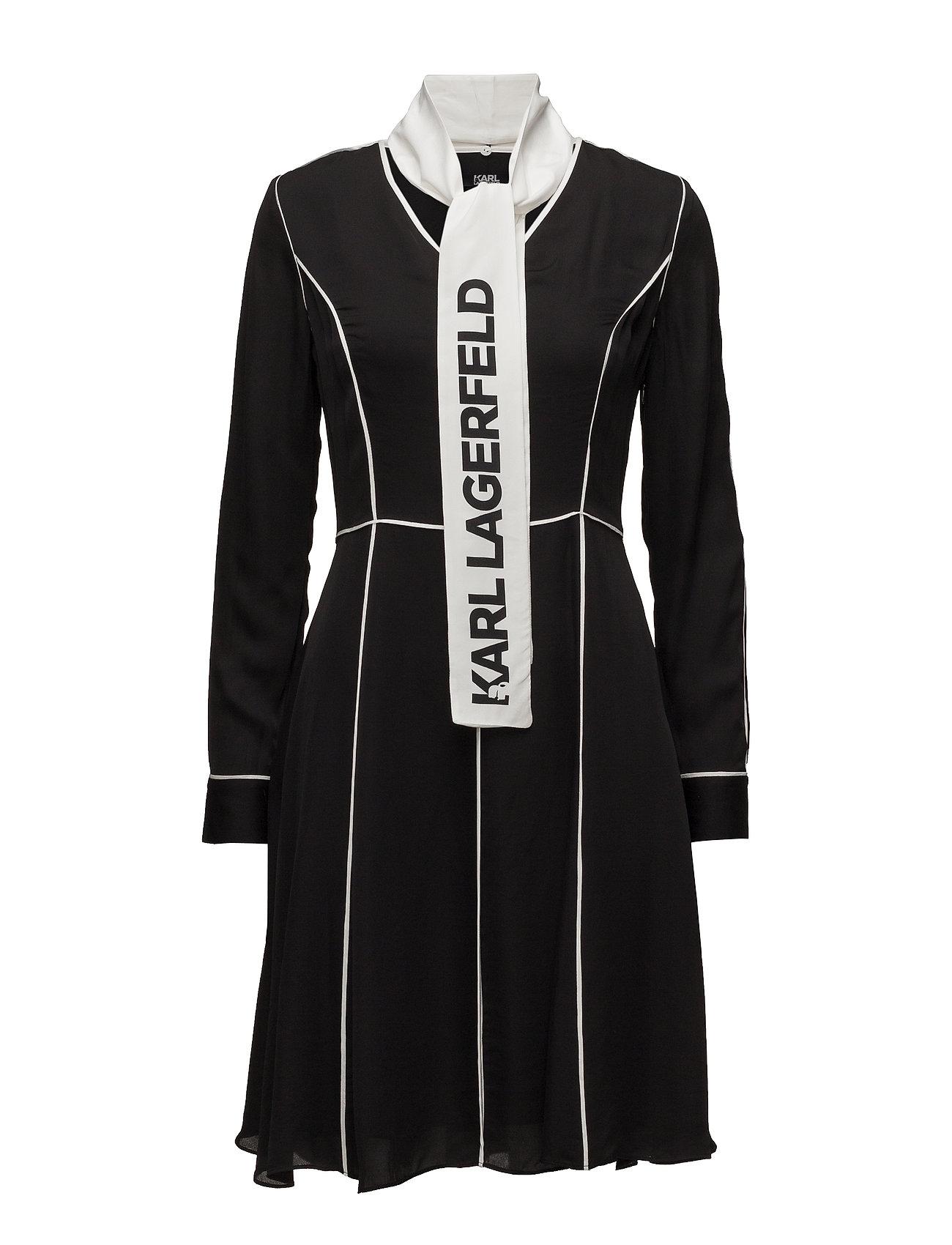 Karl Lagerfeld Karl Lagerfeld-Logo Bow Dress W  Piping Musta 9d2a43b500
