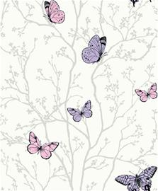 Fiona Walldesign Perhonen Tapetti, Vaaleanpunainen