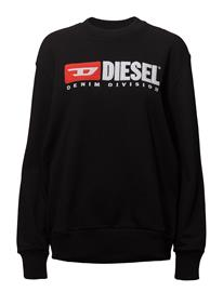 Diesel Women F-Crew-Division-Fl Sweat-Shirt Musta