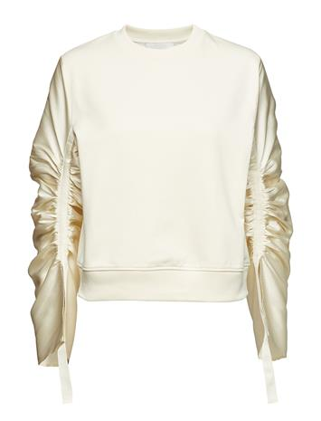 3.1 Phillip Lim Ls French Terry Po W Gthrd Slvs Valkoinen