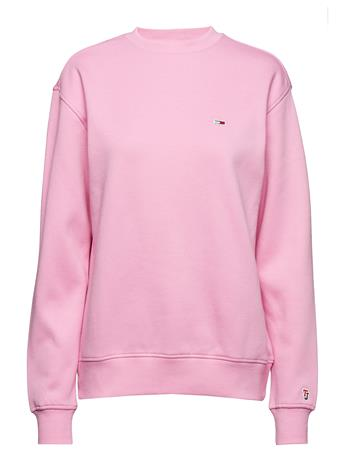 Tommy Jeans Tjw Tommy Classics Sweatshirt Vaaleanpunainen