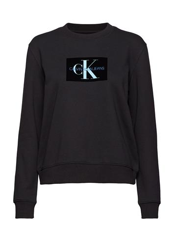 Calvin Klein Jeans Monogram Flock Box L Musta