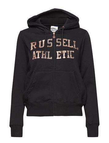 Russell Athletic Ru Zip Through Logo Hoody Musta