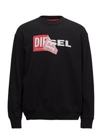 Diesel Men S-Samy Sweat-Shirt Musta