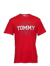 Tommy Jeans Tjm Circular Tee, 00 Punainen