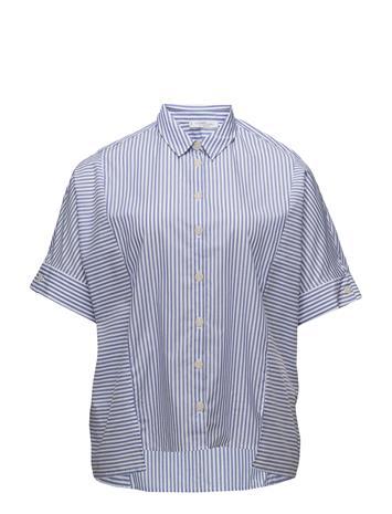 Violeta by Mango Striped Cotton Shirt Sininen
