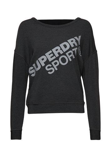 Superdry Sport Active Graphic Crew Neck Musta