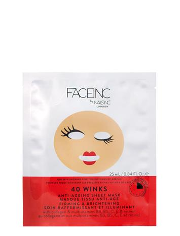 Nails Inc 40 Winks Sheet Mask - Anti-Aging Nude