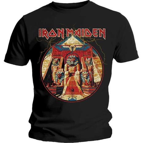 Iron Maiden Powerslave Lightning T-Paita