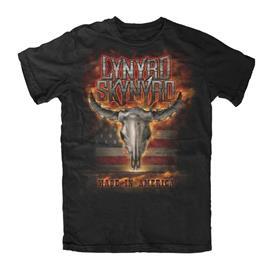 LYNYRD SKYNYRD - Flaming Skull T-Paita