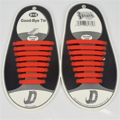 Trendy No Tie Elastic, kengännauhat 8+8 kpl