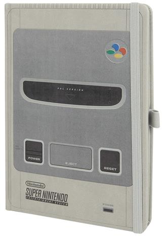 Nintendo SNES - Super Nintendo Muistikirja harmaa