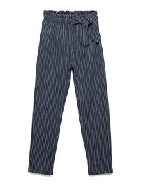 Mango Kids Striped Bow Trousers Sininen