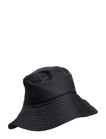 Tonsure Bucket Hat With Reflective Elastic Cord Detail And Teddy Log Musta