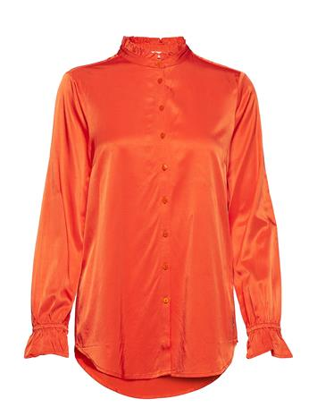 Coster Copenhagen Shirt Blouse In Satin Stretch Oranssi