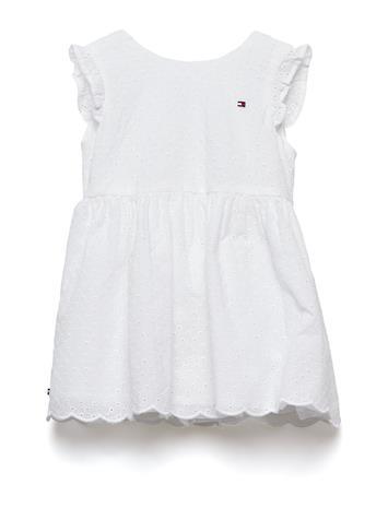 Tommy Hilfiger Baby Broderie Dress, Valkoinen