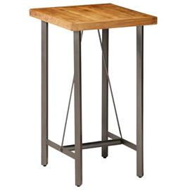 vidaXL Baaripöytä kierrätetty tiikki 60x60x107 cm