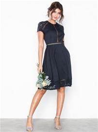 NLY Eve Trim Short Sleeve Dress Navy