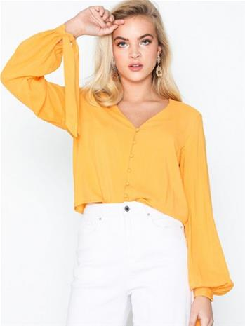 NLY Trend Front Button Blouse Keltainen