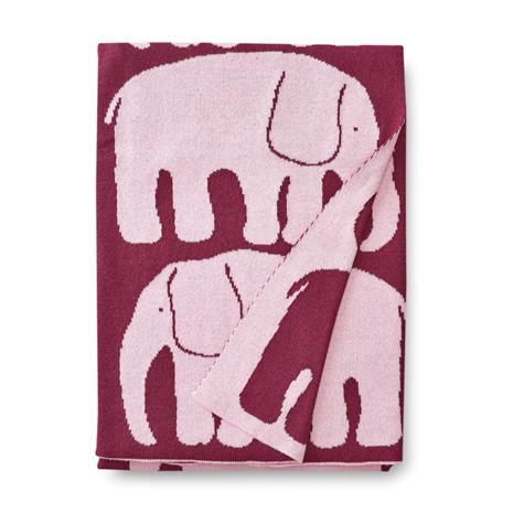 Finlayson Elefantti vauvan huopa Viininpunainen