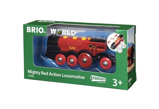 Brio World 33592, Tehokas punainen paristoveturi (Mighty Red Action Locomotive)