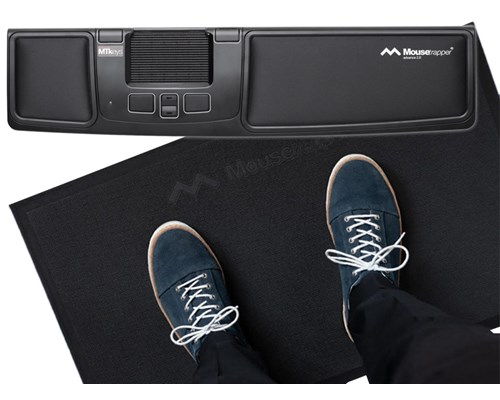 Mousetrapper MOT40134BA Advance+ ja Active Carpet Kit, ohjauslevy ja ergonominen matto