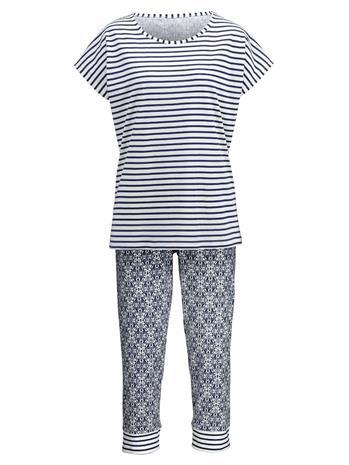 Pyjama Simone ecru/laivastonsininen58381/10X