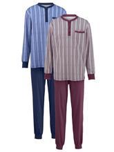 Resorillinen pyjama Gregory 1x sininen/valkoinen, 1x bordeaux/harmaa60170/40X