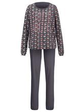 Sydänkuosinen pyjama Simone antrasiitti/blush/jade58469/40X