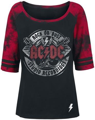 AC/DC EMP Signature Collection Naisten pitkähihainen paita musta-punainen