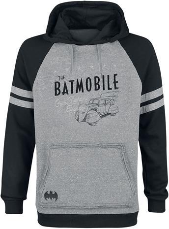 Batman Batmobile Huppari sävytetty harmaa-musta